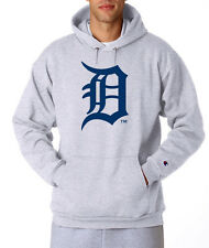 Detroit Tigers OLD ENGLISH D Champion Hoodie Pullover Sweatshirt Hooded Sweater