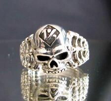 OUTLAW SILVER BIKER RING RIPPER SKULL 1% ER BONES MOTORBIKE CLUB MC ANY SIZE