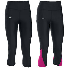 25% OFF RRP Under Armour Womens UA Fly-By Capri HeatGear Compression Base Layer