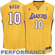 adidas Steve Nash Los Angeles Lakers Gold Replica Home Jersey