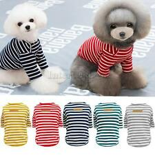 Pet Dog Cat Clothing Cotton Classic Stripe T-shirt Summer Winter Spring Apparel