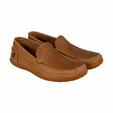 Timberland Odelay Mens Brown Leather Casual Dress Loafers Shoes