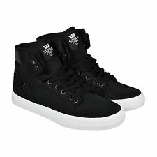 Supra Vaider D Mens Black Canvas High Top Lace Up Sneakers Shoes