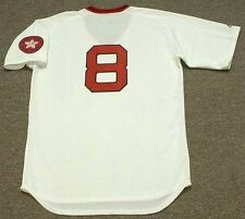 CARL YASTRZEMSKI Boston Red Sox 1975 Majestic Cooperstown Home Baseball Jersey