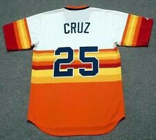 JOSE CRUZ Houston Astros 1980 Majestic Cooperstown Home Baseball Jersey