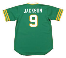 REGGIE JACKSON Oakland Athletics 1973 Majestic Cooperstown Away Baseball Jersey