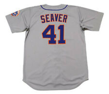 TOM SEAVER New York Mets 1973 Majestic Cooperstown Away Baseball Jersey