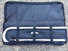 "Two-Piece ""Break Down"" Solid Aluminum Tactical Walking Cane w Case"