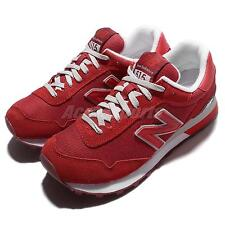 New Balance WL515SLB B Red White Suede Womens Running Shoes Sneakers WL515SLBB