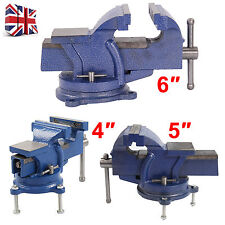 Heavy Duty Engineers Vice Vise Swivel Base Workshop Clamp Jaw Work Bench Table
