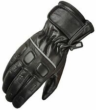Akito Trace Leather Motorcycle Biker Cruiser Scooter Summer Gloves