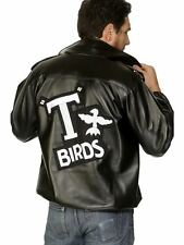 Mens Grease T Bird Jacket & Logo Fancy Dress ALL SIZES