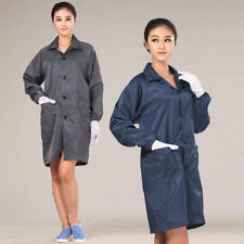 Unisex ESD-Safe Econoshield Anti-static LAB Smock Clothes Coat Jacket M-2XL