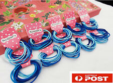 50/100 Girls Babies Soft Cotton Hair Ties Hair bands For Ponytail Mixed Blue