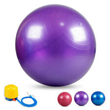 New Yoga Ball 65/75cm  Exercise Gymnastic Fitness Pilates Balance w/Air Pump