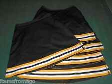 VARSITY Black & Yellow Gold Cheerleading UNIFORM SKIRT LADIES - Multiple Sizes