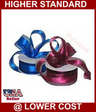"1-1/2"" 10 YD Organza Ribbon Satin Edge All Color:Ivory++"