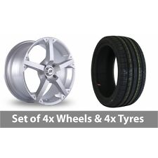 """4 x 17"""" BK Racing 300 Silver Alloy Wheel Rims and Tyres -  205/45/17"""