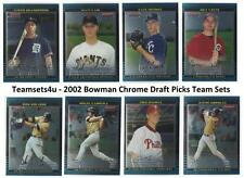 2002 Bowman Draft Picks Chrome Baseball Team Sets ** Pick Your Team Set **