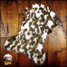 Premium Faux Fur Cowhide Rug - Plush Shag Throw - Brown and White Spotted Cow