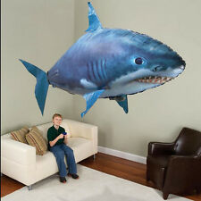 Hot Air Swimmer Remote Control RC Flying Inflatable Fish Shark Blimp Balloon AUS