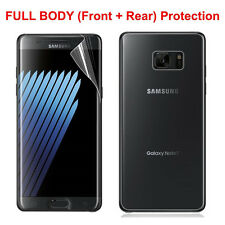 Front Full Edge Anti-shock TPU Screen Protector + Back Film For Samsung Note 7