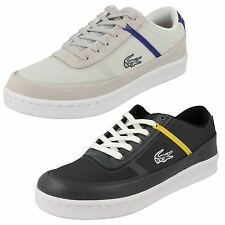 Mens Casual Lacoste Court Line Lace Up Trainers 2 Colours- Great Price!