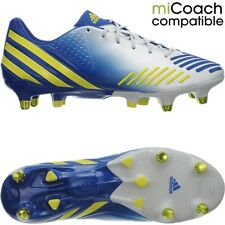 Adidas Predator LZ XTRX SG professional men's soccer cleats white/yellow/blue