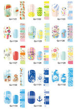 Self-adhesive Nail Polish Foils Decals Stickers Nail Art Wrap Patch Manicure New