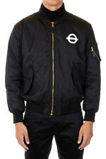 ROUNDEL LONDON UNDERGROUND New Men Black Bomber Jacket Coat Made Italy