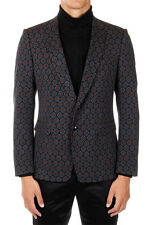 DRIES VAN NOTEN New Men Blue Single Breasted Wool Blend Jacket Blazer NwT