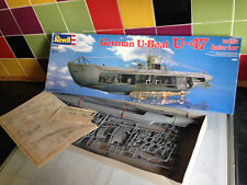 Vintage German U-Boat U-47 model kit, 1988. Revell, scale 1/125