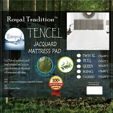 Waterproof and Super Soft Lyocell from Eucalyptus Tencel Jacquard Mattress Pad