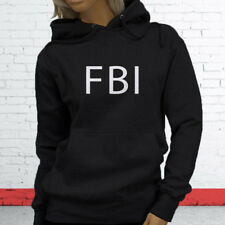 FBI Undercover Detective Police Officer Cops Court Law Womens Black Hoodie