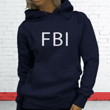 FBI Undercover Detective Police Officer Cops Court Law Womens Navy Hoodie