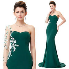 One Sleeves Women Sexy Mermaid Wedding Prom Party Dress Formal Evening Ball Gown