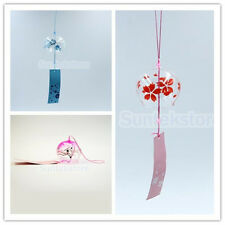 Hanging Garden Glass Furin Wind Chime Bell Cherry Blossom / Hibiscus Ornament