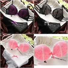 Sexy Lady Women Girl Lace Floral Push Up Bra Underwear Underwire Bra Set Cup B