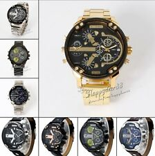 Luxury Men's Army Sport Big Dial Quartz Stainless Steel  Digital Wrist Watch