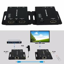 Ultra Slim 1080p 50m/164ft HDMI Extender POE Over Single Cat5e/6 + IR Extends