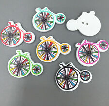 Wooden Buttons Fit Sewing scrapbooking Bicycle Wheel shape decoration 30mm