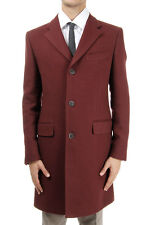 CORNELIANI CC Man Single Breasted Red Coat Made in Italy New with Tag
