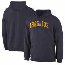 Georgia Tech Yellow Jackets Navy Basic Arch Pullover Hoodie