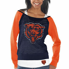 Chicago Bears Womens Navy Blue/Orange Holey Long Sleeve T-Shirt and Tank Top