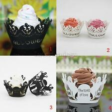 Pack of 50Pcs Halloween Ghost/Pumpkin Hollow Cupcake Liner Case Wrappers