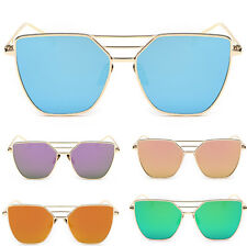Women's Retro Frame UV400 Metal Aviator Mens Sunglasses Eye Glasses Eyewear CHI