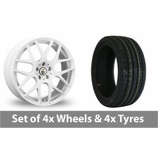 "4 x 18"" Cades Bern White Alloy Wheel Rims and Tyres -  215/40/18"