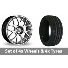 "4 x 18"" Cades Bern Hyper Silver Alloy Wheel Rims and Tyres -  225/40/18"