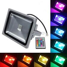 RGB Flood Light Outdoor Landscape Street Lamp Light Spotlight and Remote Control