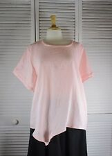 Angle Point Hanky Linen Top in 12 Colors S M L XL by Blue Fish Red Moon